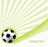 Green background with soccer ball Stock Images