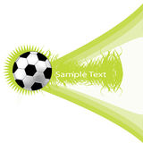 Green background with soccer ball Stock Photos