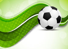 Green background with soccer ball Royalty Free Stock Photos