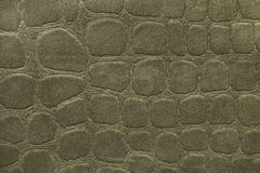 Green background from soft upholstery textile material, closeup. Fabric with pattern Royalty Free Stock Photos