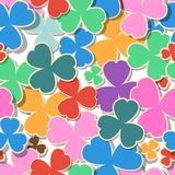 Green background for St. Patrick's Day. Seamless pattern Stock Image