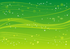 Green background with stars Stock Photos