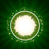 Green background with stars Royalty Free Stock Image