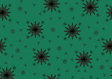 Green-background-with-stars Stock Photos