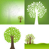 Green Background With Tree Royalty Free Stock Image