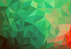 Green background with triangles. Green and red background with triangles Royalty Free Stock Image