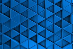Blue background with metalic triangles and shadows Stock Image