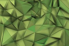 Green background with green triangles in vibrant composition Stock Photo