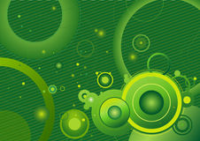 Green background,vector. Green background with different circles,vector illustration Stock Photos