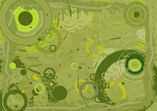 Green background,vector. Green background with different circles,vector illustration Royalty Free Stock Photography