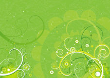 Green background,vector  Stock Image