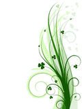 Green background (vector incl) Royalty Free Stock Photos