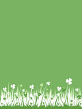 Green background (vector incl) Royalty Free Stock Images