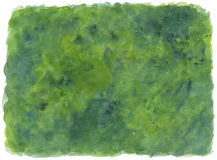 Green Background - watercolor Stock Image