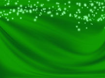 Green background with wavy lines Stock Image