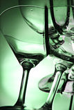 Green Background of wine glass this Front. Stock Photography