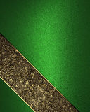 Green Background With Gold Stripes. Element For Design. Template For Design. Copy Space For Ad Brochure Or Announcement Invitation Stock Photos