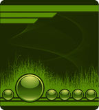 Green Background With Grass Royalty Free Stock Photo