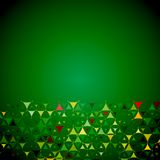 Green background with yellow shapes bottom Royalty Free Stock Photos