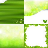 Green Backgrounds. 4 Green Backgrounds For Design, Vector Illustration stock illustration