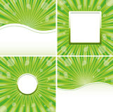 Green backgrounds Stock Images