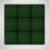 Green backgrounds on white paper texture. Nine green aquare backgrounds on white paper texture or circle nad cross game board Royalty Free Stock Images