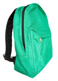 Green backpack Stock Images