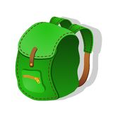 Green Backpack. Vector illustration Royalty Free Stock Photos