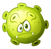 Green bacteria with evil face Royalty Free Stock Photos