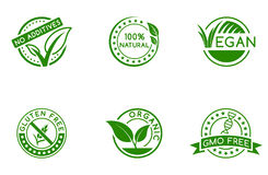 Green badges Royalty Free Stock Image
