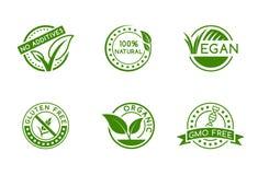 Green badges Royalty Free Stock Photos