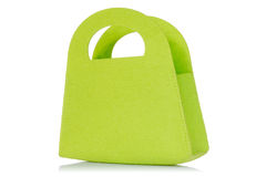 Green bag isolated on white background Royalty Free Stock Photos