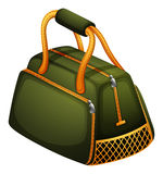 A green bag with orange zipper Royalty Free Stock Images