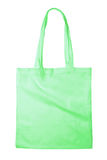 Green bag. Reusable green bag isolated on white background Royalty Free Stock Images