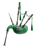 Green bagpipe Royalty Free Stock Image