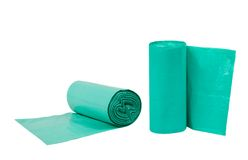 Green Bags rolls Stock Images