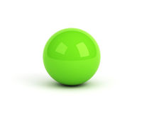 Green ball over white Royalty Free Stock Images
