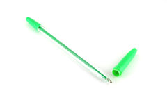 Green ball-point pen Stock Photography