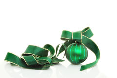 Green ball and ribbon Stock Image