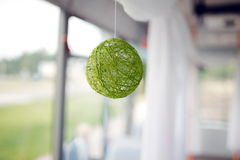 A green ball of yarn Stock Image