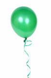 Green balloon. Gren balloon with ribbon isolated on white background Stock Images