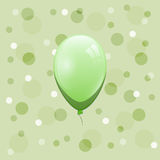 Green balloon on bokeh background Royalty Free Stock Photos