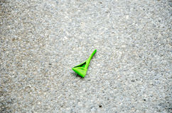 Green Balloon Debris Stock Image