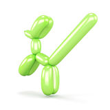 Green balloon dog isolated on white background. 3d rendering. Green balloon dog isolated on white background. Animal balloon. Balloon cat. 3d rendering Royalty Free Stock Photography