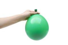 A green balloon Stock Photos