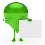 Green balloon shows Royalty Free Stock Images