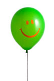 Green balloon with smile Royalty Free Stock Photos