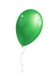 Green balloon. On white background. Vector illustration Stock Photo