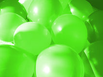 Green Balloons. Green party balloons Royalty Free Stock Images