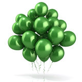Green balloons crowd Stock Photo